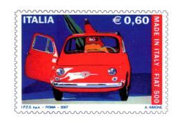 [MD1993] CPM - FIAT 500 RIPRODUZIONE FRANCOBOLLO DEDICATO - CON ANNULLO 4.7.2007 - NV - Sin Clasificación