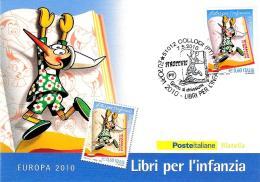 [MD1995] CPM - PINOCCHIO - EUROPA 2010 - LIBRI PER L'INFANZIA - CON ANNULLO 7.5.2010 - NV - Fumetti