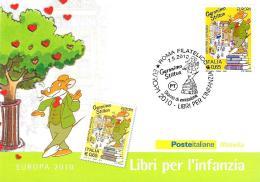 [MD1996] CPM - GERONIMO STILTON - EUROPA 2010 - LIBRI PER L'INFANZIA - CON ANNULLO 7.5.2010 - NV - Fumetti