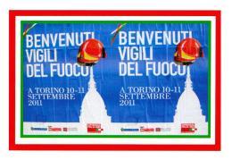 [MD1997] CPM - VIGILI DEL FUOCO - BENVENUTI - TORINO XVIII RADUNO NAZIONALE - CON ANNULLO 11.9.2011 - NV - Pompieri