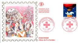 LETTRE GRAND FORMAT (1ER JOUR) - FDC - CROIX-ROUGE - 16 NOVEMBRE 1996 A PARIS - CÔTE : 5 EUROS - FDC