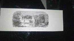 Affiche (dessin)  - Vue De Meilleray Couvent Des Trappistes (dessin De Rousseau De La Grave) - Affiches