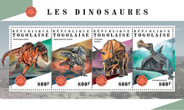 TOGO 2018 - Dinosaurs. Official Issue. - Prehistorisch