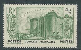 Guyane N° 152 X 150ème Anniversaire De La Révolution Française : 45 C. + 25 C. Vert Trace De Charnière Sinon TB - French Guiana (1886-1949)