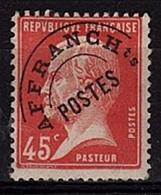 PREO 31 - FRANCE Préo N° 67 * Type Pasteur - Precancels