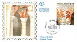 LETTRE GRAND FORMAT (1ER JOUR) - FDC - FRESQUES DE TAVANT - 1 MARS 1997 A TAVANT - CÔTE : 5 EUROS - FDC
