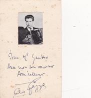 Autographe Dédicace Signature Réelle Léo GAZZOLI Accordéoniste Accompagnateur De MOULOUDJI - Autographes