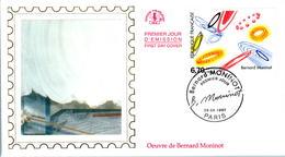 LETTRE GRAND FORMAT (1ER JOUR) - FDC - BERNARD MONINOT - 29 MARS 1997 A PARIS - CÔTE : 6 EUROS - FDC