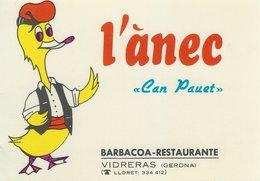 "L`anec ""Can Pauet""  Barbacoa-Restaurante.  Vidreras  (Gerona). Italy.  # 07765 - Hotels & Restaurants"