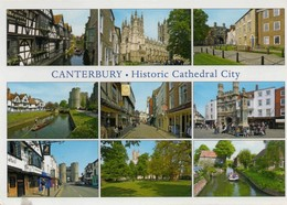 Postcard - Canterbury - Historic Cathedral City - 9 Views - VG - Unclassified