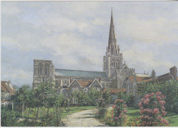 Postcard - Art - Pat Bell - Chichester - The Cathedral - VG - Unclassified