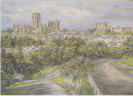 Postcard - Art - Pat Bell - Durham - The City From Gilesgate - VG - Unclassified