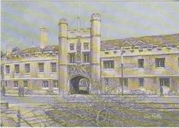 Postcard - Art - Sue Firth - Cambridge - Christ's College - VG - Unclassified