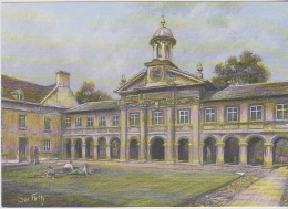 Postcard - Art - Sue Firth - Cambridge - Emmanuel College - VG - Unclassified