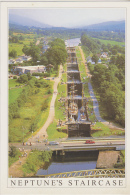 Postcard - Scotland - Neptune's Staircase, Caledonian Canal Nr.Fort William - Photo By Alex Gillespie - VG - Unclassified