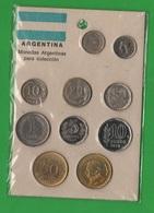 Agentina Serietta Tipologica 10 Monete - Emissioni Private - Argentina
