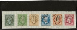 SERIE TIMBRE NAPOLEON III -EMPIRE FRANC N° 19 A 24 OBLITERES -TB  ANNEE 1862-63- COTE :133 € - 1862 Napoleon III