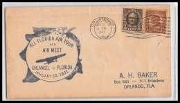 0618 Lettre USA Aviation Premier Vol (Airmail Cover First Flight Luftpost) 1931 Orlando All Florida Air Tour Meet - Air Mail