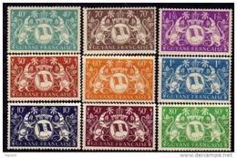Guyane N° 182 / 200  XX Série De Londres : La Série Des 19 Valeurs Sans Charnière,  TB - Unused Stamps