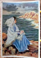 HOMUALK JEUNE FILLE DE TREGASTEL PERROS GUIREC SERIE EN PARCOURANT LA BRETAGNE N° 37 SCAN R/V - People