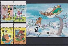 2279  WALT DISNEY - GRENADA  GRENADINES  ( Christmas 1986 ) Christmas Eve Woodland Greetings. - Disney