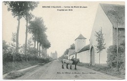 CPA PK   BRAINE L'ALLEUD  FERME DE MONT ST JEAN  HOPITAL EN 1815  CHEVAUX   HOTEL DU MUSEE - Belgio