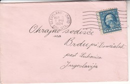 2528 LETTER  CLEVELAND OHIO   LUKOVICA   SLOVENIJA 1924 - Verenigde Staten