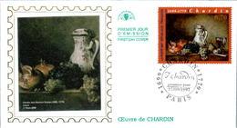 LETTRE GRAND FORMAT (1ER JOUR) - FDC - OEUVRE DE J.B. CHARDIN - 27 SEPTEMBRE 1997 A PARIS - CÔTE : 5 EUROS - FDC