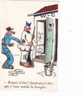 """CPA Soldat Nettoyant Les Toilettes Chiottes Latrines """"Cagadou"""" Gradé Militaire Fantaisie - Humoristiques"""