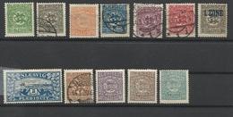 SCHLESWIG HOLSTEIN 12 Timbres Plébiscite 1920 - Schleswig-Holstein