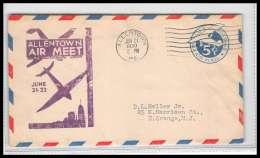 0328 Lettre USA Aviation Premier Vol (Airmail Cover First Flight Luftpost) 1930 Allentown Air Meet - Air Mail