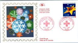 LETTRE GRAND FORMAT (1ER JOUR) - FDC - CROIX-ROUGE - 6 NOVEMBRE 1997 A PARIS - CÔTE : 5 EUROS - FDC
