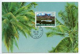 French Polynesia 1991 Papeete, Tahiti Souvenir Postcard - French Polynesia