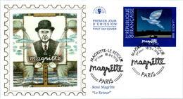LETTRE GRAND FORMAT (1ER JOUR) - FDC - MAGRITTE - 18 AVRIL 1998 A PARIS - CÔTE : 8 EUROS - FDC