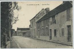 Villlecerf-Grande-Rue (Pliure Au Centre Sur Toute La Hauteur,voir Scan) (CPA) - France