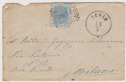 SCHIO 18.5.1867 Numerale A Punti 2654, Per Milano - Storia Postale