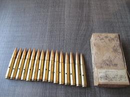 Boite Complète15 Cartouches 7,92  Mauser  Neutralisées 1938 - Decorative Weapons