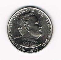 &-   MONACO  1 FRANC  RAINIER III   1982 - Monaco