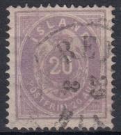 ISLANDIA 1876 Nº 10 TIPO A 14X13 1/2 USADO - Blocchi & Foglietti