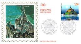 LETTRE GRAND FORMAT (1ER JOUR) - FDC - LE MONT-SAINT-MICHEL - 6 JUIN 1998 A LE MONT-SAINT-MICHEL - CÔTE : 6 EUROS - FDC