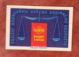 Tschechoslowakei, Streichholzschachtel-Etikett, Waage (53881) - Zündholzschachteletiketten