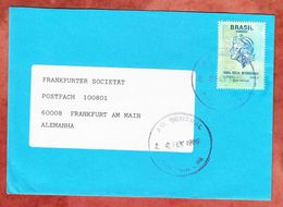 Brief, EF Freiheitskopf, Porto Alegre Nach Frankfurt 1996 (53885) - Cartas