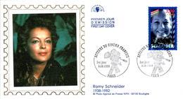 6 LETTRES GRANDS FORMATS (1ER JOUR) - FDC - ACTEURS DE CINEMA FRANCAIS - 3 OCTOBRE 1998 A PARIS - CÔTE : 20 EUROS - FDC
