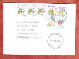 Brief, MiF Blueten, Brasilia Nach Frankfurt 1993 (53887) - Cartas