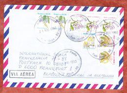 Luftpost, MiF Blueten, Porto Alegre Nach Frankfurt 1993 (53888) - Cartas
