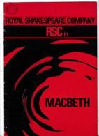 Programme Royal Shakespeare Company 1967, Macbeth (Shakespeare), Paul Scofield Dans Le Rôle-titre - Théatre & Déguisements