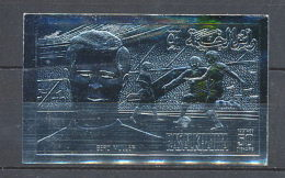 011 Ras Al Khaima Non Dentelé Imperforate Football Soccer Gerd Müller Argent Silver - 1974 – Westdeutschland