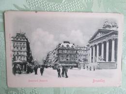 Bruxelles .  Boulevard Anspach Sous La Neige - Piazze