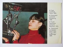 Rare! Nadia Comaneci,Romanian Middle(150 X 105 Mm) Calendar From 1980 - Calendarios