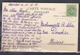 Postkaart Stavelot Naar Verviers - 1915-1920 Albert I